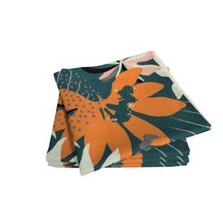 ADAM Servietten Jungle, 4er Set, dunkelgrün, 30x30 cm
