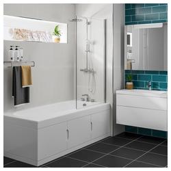 HAK Badewanne Rechteck Badewanne 167,5x76,5cm mit Einbauschrank und Duschkabine, Links