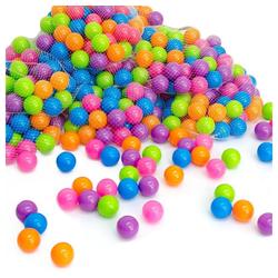 LittleTom Bällebad-Bälle 100 bunte Bälle für Bällebad 5,5cm Babybälle, Plastikbälle Baby Spielbälle