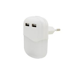 ANSMANN® LED Nachtlicht LED Nachtlicht mit Dämmerungssensor & 2x USB - LED Leuchte