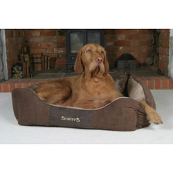 Scruffs Chester Box Bed hondenmand Chocolate  S