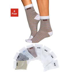 H.I.S Socken (8-Paar) geringelt und uni bunt 35-38