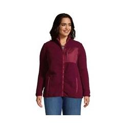Jacke aus Teddyfleece  in großen Größen - 56-58 - Rot