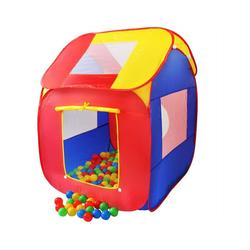 KIDUKU Spielzelt Kinderspielzelt Bällebad Pop Up Spielzelt + 200 Bälle + Tasche für drinnen und draußen