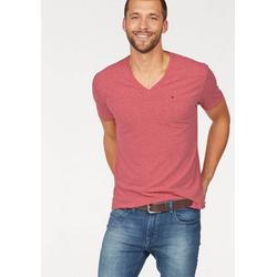 Tommy Jeans T-Shirt TJM ORIGINAL TRIBLEND V NECK TEE rot S (46)