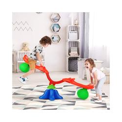 COSTWAY Wippe Wippe Wippschaukel 360° drehbar mit Griff zum Festhalten, Gartenwippe für Kinder über 3 Jahren