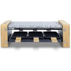H.Koenig Raclette WOD6 Raclette-Grill für 6 Personen in Holz-Optik, 900 W