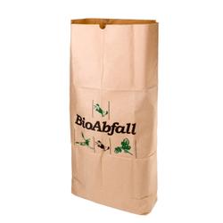BIOMAT® Bioabfallsack aus Kraftpapier, 120 Liter, Bioabfallsäcke biologisch abbaubar und kompostierbar, 1 Bündel = 25 Stück, 1-lagig nassfest