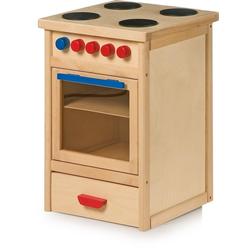 LeNoSa Kinder-Herd Kinder Spielküche - Holz Küchenherd (Arbeitshöhe ca. 50 cm)