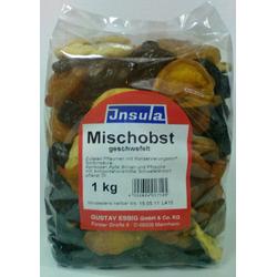Mischobst 5 Früchte von Insula geschwefelt zum Knabbern 1000g