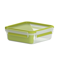 emsa Sandwichbox 0,865 l  Clip & Go ¦ grün ¦ Kunststoff ¦ Maße (cm): B: 16,3 H: 5,8
