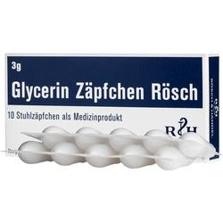 GLYCERIN ZÄPFCHEN Rösch 3 g gegen Verstopfung 10 St