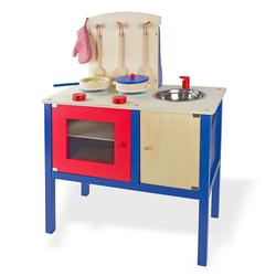 Kinderküche / Spielküche aus Holz mit Zubehör