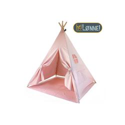 Hej Lønne Tipi-Zelt Tipi Zelt für Kinder rosa einfarbig Indianerzelt