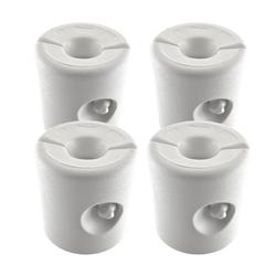 GEORGES Partyzelt Kunststoff Pavillon Gewichte 4er Set für Wasseroder Sand in weiß