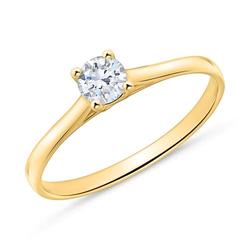Verlobungsring aus 14K Gold mit Brillant