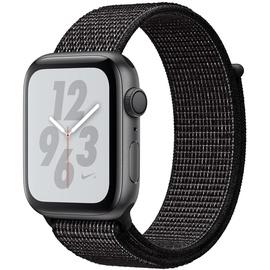 Apple Watch Nike+ Series 4 (GPS) 44mm Aluminiumgehäuse space grau mit Nike Loop Sportarmband schwarz