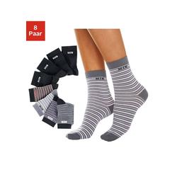 H.I.S Socken (8-Paar) geringelt und uni bunt 43-46