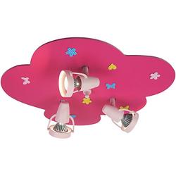 Deckenlampe Blumenwiese, magenta pink