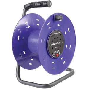 Pro Elec PEL00901 Kabeltrommel, 4-fach, Kunststoff, E MPty (50 m)