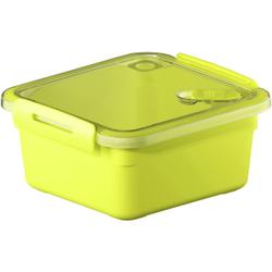 Rotho MEMORY Mikrowellen-Dose, Mikrowellen-Behälter zum Aufwärmen, Transportieren oder Frischhalten, Füllmenge: 1000 ml, 160 x 150 x 77 mm, LIME grün