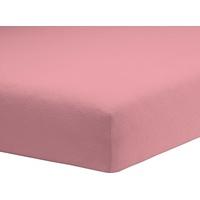 Schlafgut Spannbettlaken Frottee-Stretch 180 x 200 - 200 x 200 cm steinrosa
