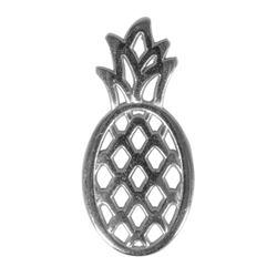 VBS Anhänger Set Ananas, 2,5 cm x 1,1 cm silberfarben