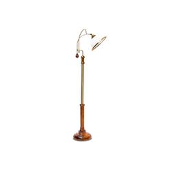relaxdays Stehlampe Stehlampe Jugendstil Glasschirm