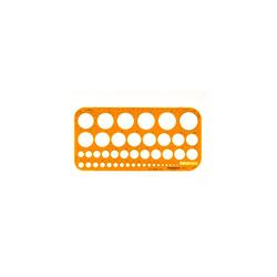 Rumold Kreisschablone Ø 1 36mm 260 x 130 x 1,6mm orange