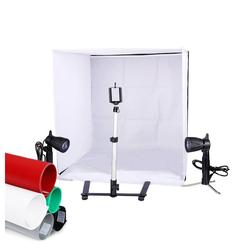 Kshioe Fotobox ST-11, 60x60x60cm Fotobox Fotostudio Set Led Lichtbox Faltbare Produktfotografie