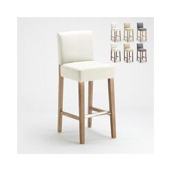 Barhocker Holzküche Henriksdal Stil Hoch 74 cm Comfort Xl | Shabby Weiß