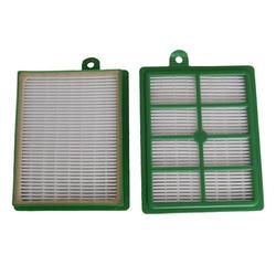 vhbw Ersatz Hepa Allergie Filter Set AEG TwinClean ATC 8250, ATC 8251, ATC 8252, ATC 8253, ATC 8254, ATC 8255, ATC 8256, ATC 8257 wie AEF 12, H12.