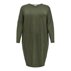 ONLY Knielanges Curvy Kleid Damen Grün Female S-42/44