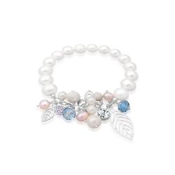 Elli Perlenarmband Süßwasserperle Swarovski® Kristall Silber