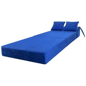 Stillerbursch Schlafsessel Klappmatratze Faltmatratze Gästebett Schlafsofa Gästematratze 195 x 70 x 15 cm mit Kopfteil Blau