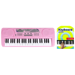 McGrey BK-4910PK Keyboard Pink Set mit Schule