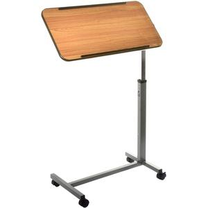 Teqler Betttisch Holzoptik schwenkbar höhenverstellbar von 78 - 110 cm