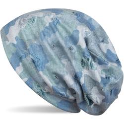 styleBREAKER Beanie Beanie mit Camouflage Muster Beanie mit Camouflage Muster blau