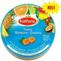 Kalfany Tropic Bonbons Tropical Fruits Geschmack Bonbons 150gramm