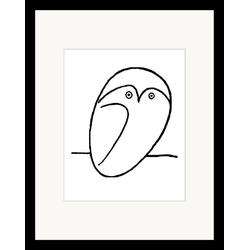 G&C Bild Picasso: Chouette, mit Rahmen, 35/45 cm