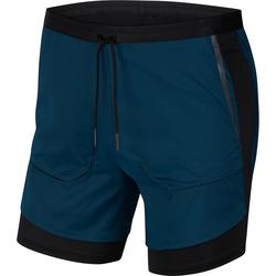 Nike Tech Pack 2 in 1 Laufshorts Herren in midnight turq-black-reflect black, Größe XL midnight turq-black-reflect black XL