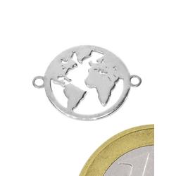 Adelia´s Kettenanhänger Zirkonia Anhänger Weltkugel 925 Silber