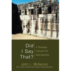 Did I Say That?: eBook von John L. Mckenzie