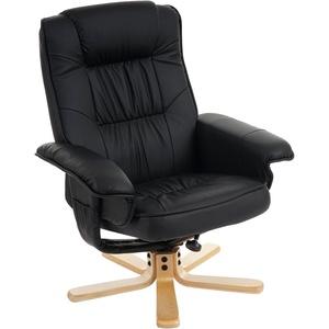 Relaxsessel Fernsehsessel Sessel ohne Hocker M56 Kunstleder ~ schwarz