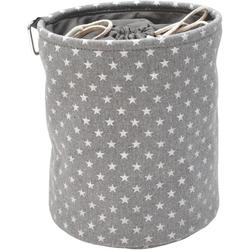 Franz Müller Flechtwaren Aufbewahrungsbox TexBox - Sterne (1 Stück), Wäscheklammernbehälter
