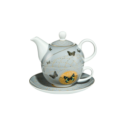 Goebel Teekanne Grey Butterflies Tea for One Artis Orbis, 0.35 l, Kanne