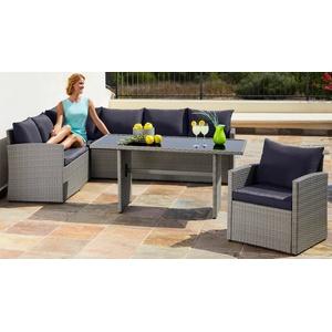 Beautiful Loungeset Chicago Tlg Eckbank Sessel Tisch X Cm With Lounge Set  Garten