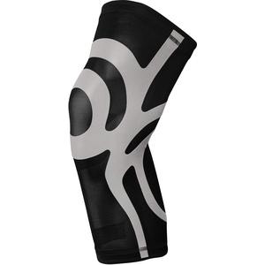 BODYVINE Unisex – Erwachsene Ultrathin Compression Plus Kompressions Knie Bandage mit Power-Band Stabilisator Tape, Grau, L