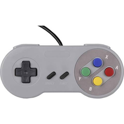 Joy-it Gamepad SNES Design Gamepad Raspberry Pi®, Universal Grau