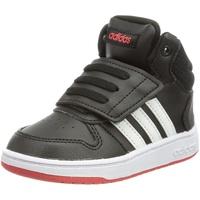 adidas Unisex Baby Hoops Mid 2.0 Sneaker, Core Black/Cloud White/Vivid Red, 26 EU